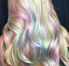 Sneak peak of my VALAYAGE (yes with a V.it s my technique vivid+balayage).full tutorial on the way for a behindthechair_com webinar featuring olaplex and kenraprofessional. Pastel Rainbow Hair, Dyed Hair Pastel, Colorful Hair, Work Hairstyles, Pretty Hairstyles, Hairstyle Ideas, Opal Hair, Hair Tonic, Pinterest Hair