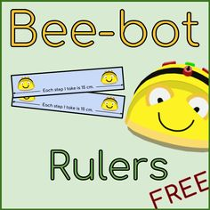 Bee-bot rulers to use in class. Each of the rulers is 15 cm long and covers 1 step the Bee-bot takes. These are great for use in class and introducing measurement using non-standard units.