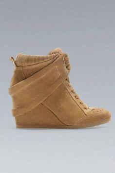 Our kind of athletic footwear: wedge sneakers from Zara