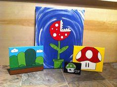 mario,super mario bros,nintendo,retro,canvas Canvas Art By Lindsay Hurley www.earthseadesigns.webs.com/ www.facebook.com/earthseadesigns Super Mario Bros Nintendo, Canvas Designs, Hurley, Retro, Canvas Art, Facebook, Artist, Artists, Rustic