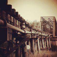 Abandoned railway bridge
