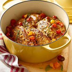 Sautéed Chicken Breasts with Warm Tomato Salad    Williams-Sonoma