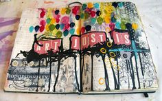 collage + text . . . love the use of scrapbook letters.