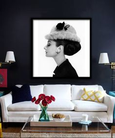 Audrey Hepburn Poster PRINTABLE avl in square & by Dantell