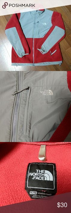 The  North Face Jacket Womens I bought this jacket off posh thought it was a darker color so I've decided to sell it, also it has two spots on it as shown in the pics one on  the bottom of the jacket ( pic 5) and one on the sleeve (pic 4) both were there when I got it,  but there not that noticeable. The Color is a light coral and gray color. The North Face Jackets & Coats Utility Jackets