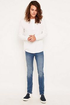 "Cheap Monday – Enge Skinny Jeans ""Wave"" in Blau – Herren 28W…"