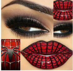 Halloween Spiderman makeup