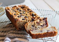 This Toasted Coconut Blueberry Banana Bread boasts delicious flavors - you'd never know that it was low-fat (no butter or oil!), low-sugar, and gluten-free!