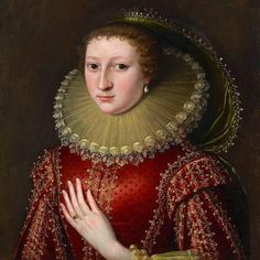 Available for sale from The Weiss Gallery, Circle of Paul van Somer, An Unknown Noblewoman (ca. Oil on canvas, 23 × 21 in