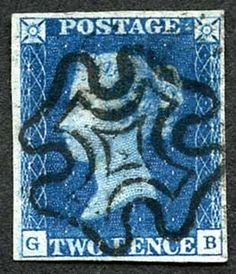 1840 2d Deep Full Blue (GB) Plate 2 (Vertical Crease) Four Margins #forsale http://www.kollectbox.com/explore/#/item/profile/55e9a74670ebd0905cb80fdf www.kollectbox.com - #Marketplace for #Stamp #Collectors  #philately #stamps