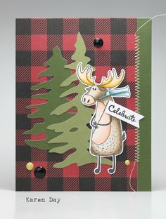 Karen Day using the O Canada stamps and papers from Photoplay. Canada Birthday, Canada Christmas, Canada Day, Card Making Inspiration, Masculine Cards, Stamp Sets, Moose, Cardmaking, Card Ideas