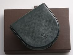 G6108M Authentic Louis Vuitton Taiga Cuvette Coin Case