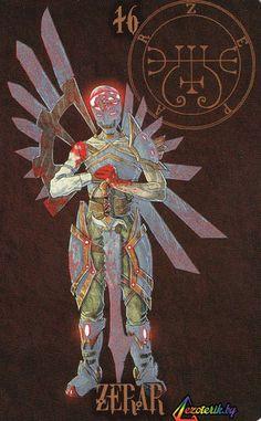 Зепар - великий герцог, он является призывающим его смертным в обличье воина со стальными крыльями за спиной. Но он повелевает не войнами между царствами, а л