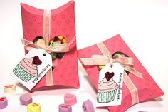 Tremendous Treats: Valentine Revisited - Window Pillow Boxes by Heather Nichols for Papertrey Ink (February 2013)