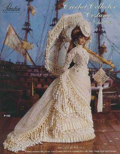 PDF Crochet Barbie Lady of the Sea Dress, Barbie Gown, Crochet eBook, Pattern, Instant Download, Vintage, English von Cottonebo auf Etsy https://www.etsy.com/de/listing/187244126/pdf-crochet-barbie-lady-of-the-sea-dress