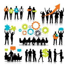 Vector of Business Teamwork Royalty Free Stock Vector Art Illustration