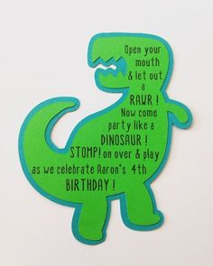 Dinosaur Birthday InvitationsBirthday Party di 3FeetTall su Etsy