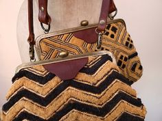 The Bags will be available from Hetre.  Fogle Bags England.  Bespoke Bags with African Kuba Raffia Cloth
