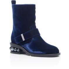 Casati Pearl Biker Boots | Moda Operandi ($1,295) via Polyvore featuring shoes and boots