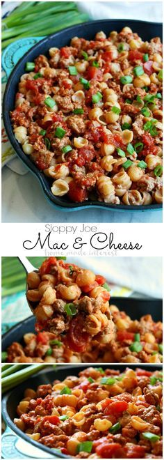 This Sloppy Joe Macaroni and Cheese is a mac and cheese recipe that the whole family is going to love. This macaroni and cheese recipe is made with organic ingredients for an easy weeknight dinner or a quick lunch. Kids are going to love having two of the Casserole Recipes, Pasta Recipes, Beef Recipes, Dinner Recipes, Cooking Recipes, Healthy Recipes, Casserole Ideas, Cheese Recipes, Cake Recipes
