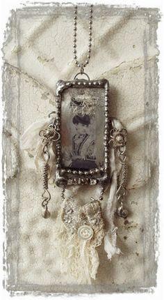 Boho Lady Soldered Glass Necklace by hester