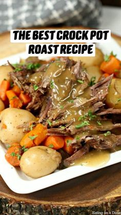 Crockpot Dishes, Crock Pot Cooking, Beef Dishes, Roast Recipe Easy, Roast Beef Recipes, Chicken Recipes, Crock Pot Roast Beef, Slow Cooker Beef Roast, Slow Cook Pot Roast