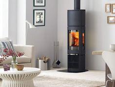 Jotul F 371 High Top wood burning stove in room setting