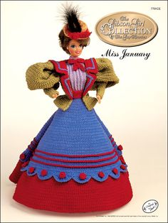 Gibson Girl Miss January Crochet Pattern Download from e-PatternsCentral.com -- The 1994 Collector's Series, The Gibson Girl Collection of the Gay 90s, recreates the unique style of the All-American girl portrayed in fashion for the first time.