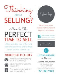 Real Estate Marketing Ideas Discover Customized Sales Infographic Postcard thinking about selling Real Estate Career, Selling Real Estate, Real Estate Tips, Real Estate Business Plan, Real Estate Investing, Real Estate Advertising, Real Estate Marketing, Online Marketing, Marketing Ideas