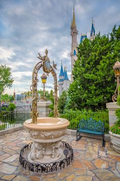 Cinderella's wishing well Magic Kingdom Disney world