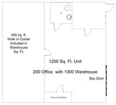 1200 sq. ft. unit with Cooler at Hunt Industrial Park