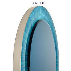 Detail of our Blue Wave Mirror in blue straw marquetry. Designed by Jallu, Jallu Creations 2021, straw marquetry furniture, marqueterie de paille, furniture makers, furniture designer, artisan, luxury furniture, luxury interiors, savoir faire, Made in France, interior inspo, modern luxury, craftmanship, sur mesure, pièce unique, French designer