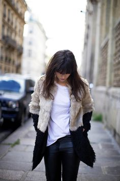 loving this relaxed vintage jacket and jean look