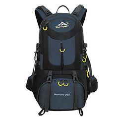 Hiking Backpack Waterproof Nylon Rucksack Camping Backpack Bags Lightweight  Outdoor Trekking Sport Daypack for Men Women Travel Mountaineering Deep  Blue ... 88b6f05195ad8