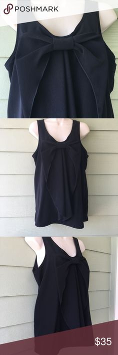 """Bow front tank Neman Marcus So cute, bow front tank top from Neiman Marcus. Size Large. New with tags. Measures 21"""" from underarm to underarm and 27"""" in length. So versatile! ! Neiman Marcus Tops"""