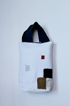 Antique linen patchwork boro tote bag/small/Japanese/french…