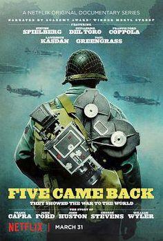 Fait majeur et source d'inspiration, la Deuxième Guerre mondiale n'a pas échappé à Hollywood. Cinq hommes et une guerre suit cinq réalisateurs de légende dont les incroyables histoires de guerre ont fait date.