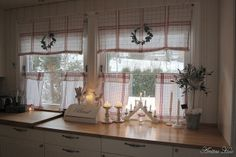 Kitchen Curtains Idea for DIY Whitewashed Cottage chippy shabby chic french country rustic swedish decor idea