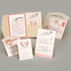 beautiful, regal, modern wedding invitation with pocketfold from Chic Ink #wedding #invitation