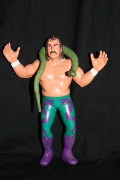 "WWF LJN ""Jake 'The Snake' Roberts"" 1987 loose action figure w/Damien Wrestling Superstars,http://www.amazon.com/dp/B00879M1K8/ref=cm_sw_r_pi_dp_euv9sb0ZREWYYR69"