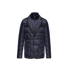 2178a674b Men Moncler Dark Blue Billard Padded Jacket