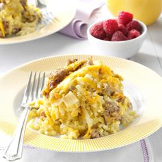 Slow Cooker Breakfast Casserole Recipe -Here's a breakfast casserole that is very easy on the cook. I can make it the night before and it's ready in the morning. It's the perfect recipe when I have weekend guests. —Ella Stutheit, Las Vegas, Nevada