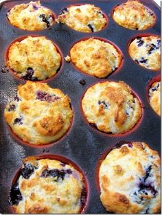 blueberry muffins with low fat bisquick and sour cream or yogurt.