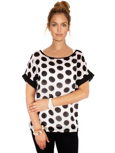 Printed Black & White Top | Psto-3062 | Cilory.com