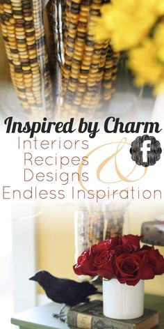 Join Michael Wurm, Jr. and Inspired by Charm on Facebook for more home decor ideas, holiday crafts, delicious recipes, and endless inspiration. Share your ideas and thoughts too! I'd love to hear from all of you. http://www.facebook.com/inspiredbycharm