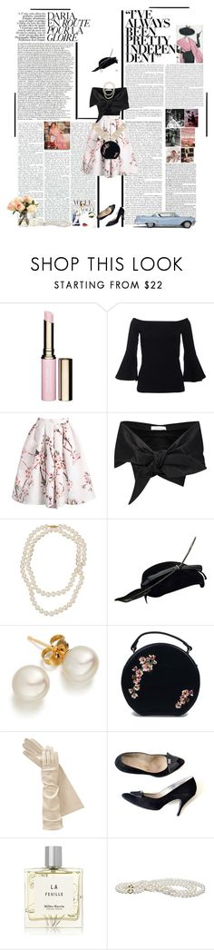 """""""Libra:The 1950s"""" by thisworldistoobeautiful1139 ❤ liked on Polyvore featuring Wallace, Clarins, WithChic, Marques'Almeida, Belpearl, Banned and Miller Harris"""