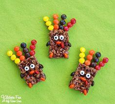 Kitchen Fun With My 3 Sons: Easy Thanksgiving Rice Krispie Turkey Treats