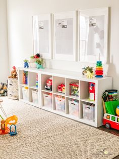 Hot Kids Playroom Design Tips Designing an ideal playroom for the kiddies takes some time and planning, however, once it has done, it's going to provide you hours of period. Actions in Planning your Playroom… Continue Reading → Playroom Closet, Small Playroom, Toddler Playroom, Playroom Design, Playroom Decor, Organized Playroom, Kids Playroom Storage, Toy Room Storage, Playroom Shelves