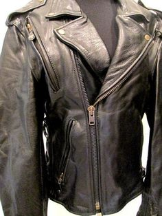 Leather Motorcycle Jacket by MISSVINTAGE5000 on Etsy