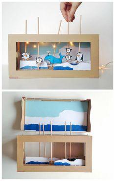 25 New things made with DIY cardboard box anyone can make - Cardboard Box , 25 New things made with DIY cardboard box anyone can make DIY cardboard box puppet show Basteln mit Schuhkarton. Diy Crafts For Tweens, Diy Arts And Crafts, Creative Crafts, Diy For Kids, Home Crafts, Easy Crafts, Crafts For Kids, Cardboard Box Crafts, Cardboard Toys